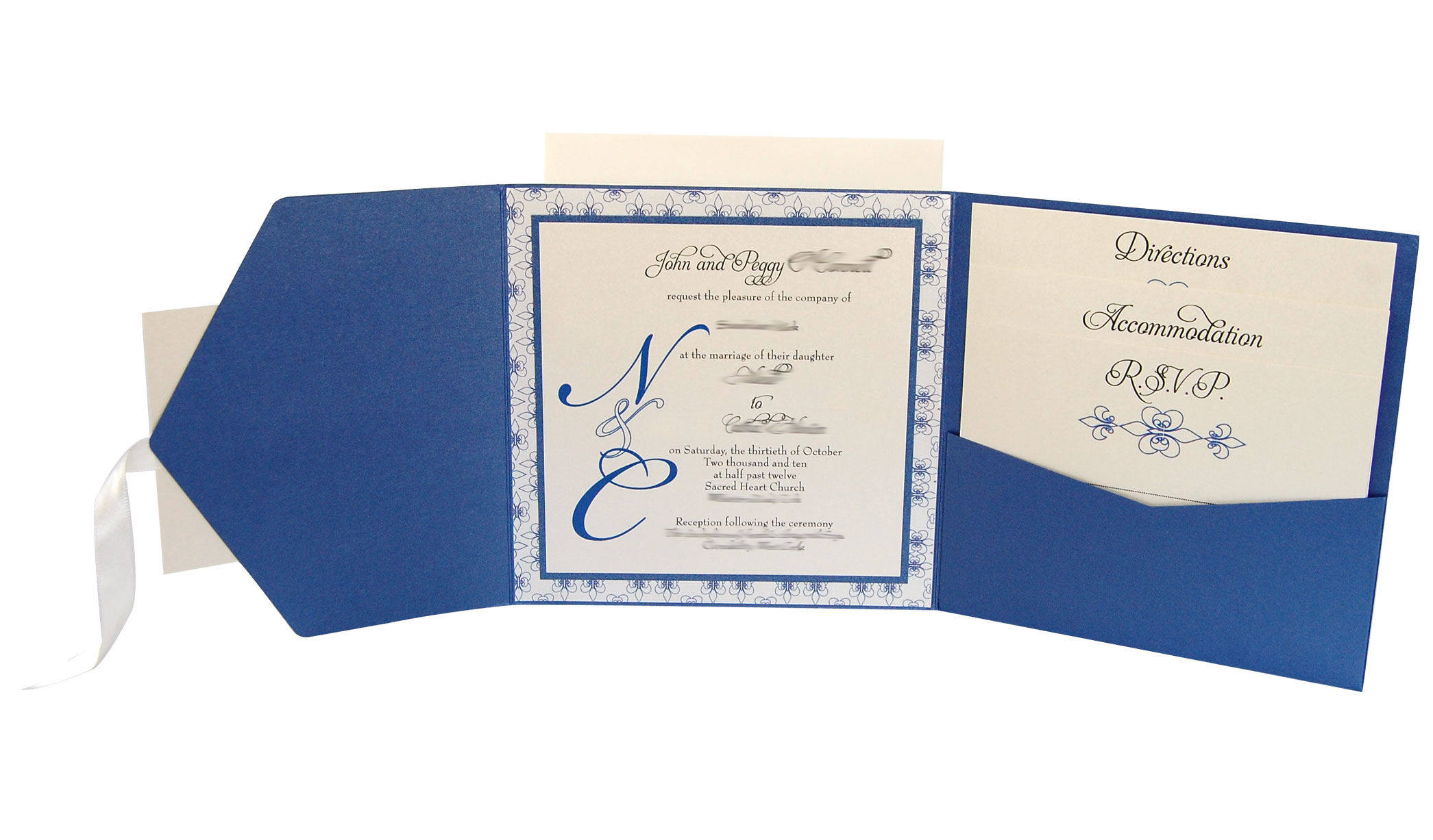 Royal Blue Wedding Invitation Cards: Lots Of Love Invitations