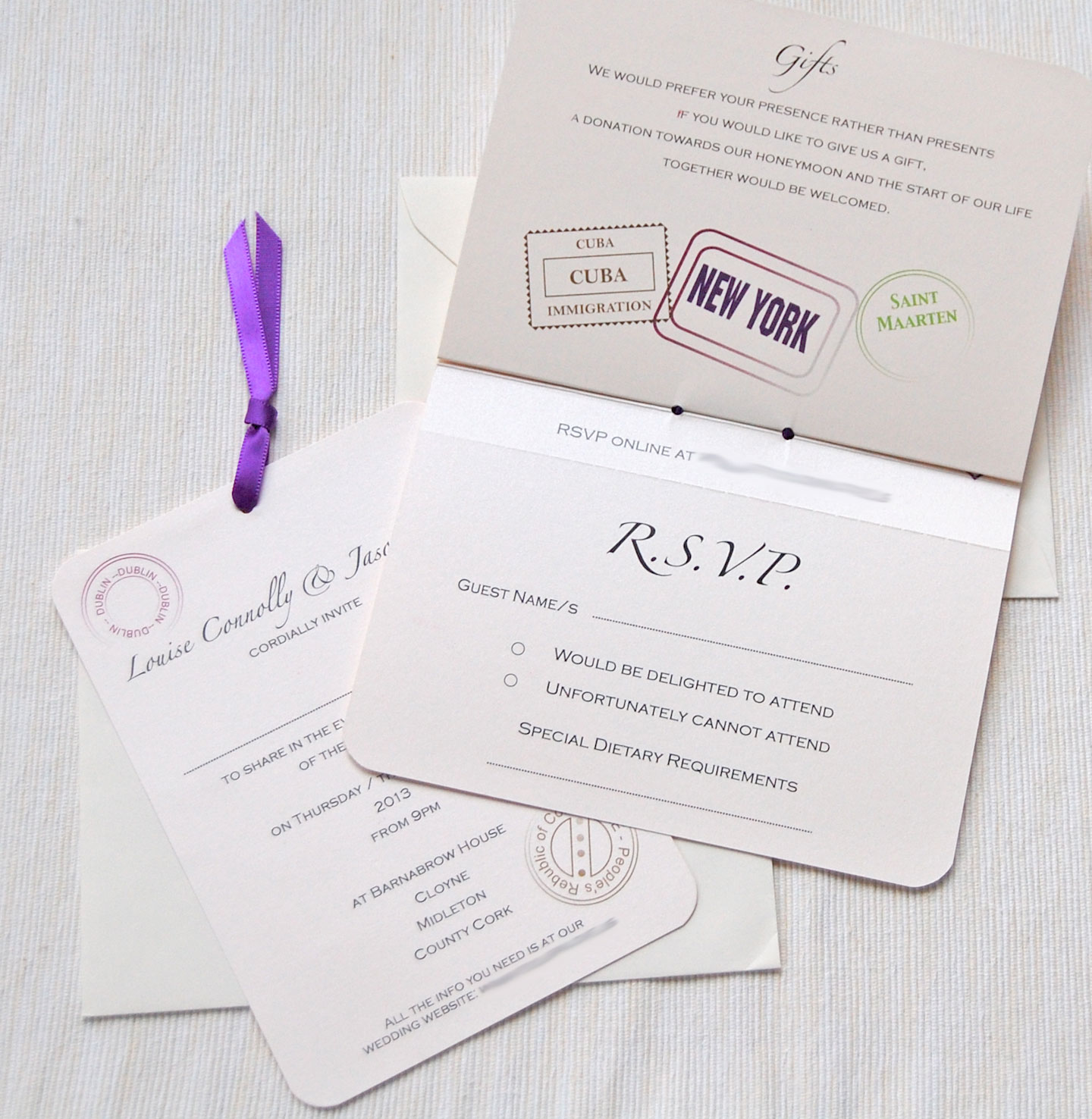 Lots of love invitations posted on march 20th 2013 in real wedding invitations tags ivory passport invitation real weddings wedding invitations stopboris Choice Image