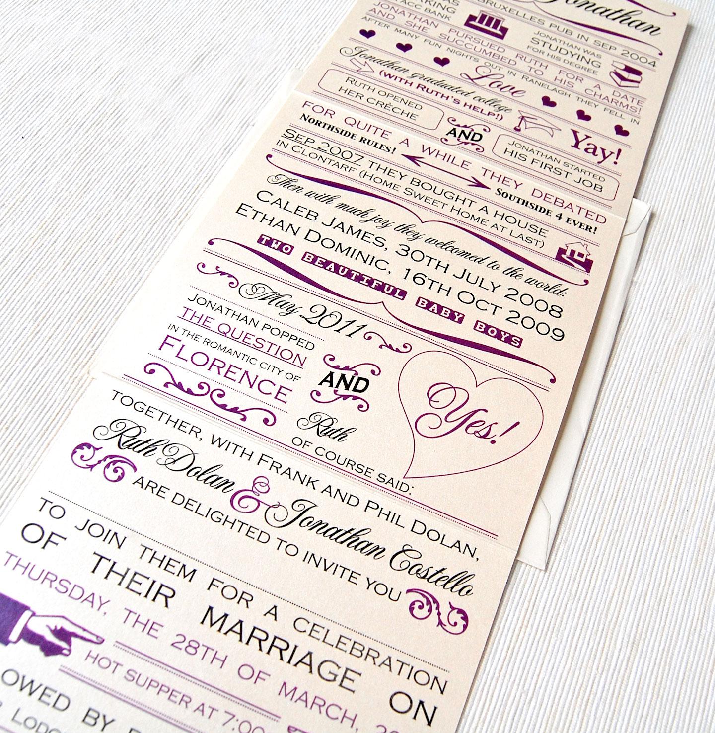 story inexpensive wedding invitation ideas