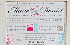 Bespoke Love Story Reception Print