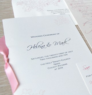 Wedding Booklet Cover | Feather  Ink