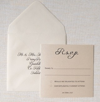 Square Rsvp & Envelope