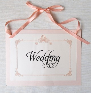 Layered Wedding Sign