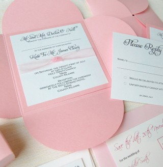 Pink Sherbet Invitation
