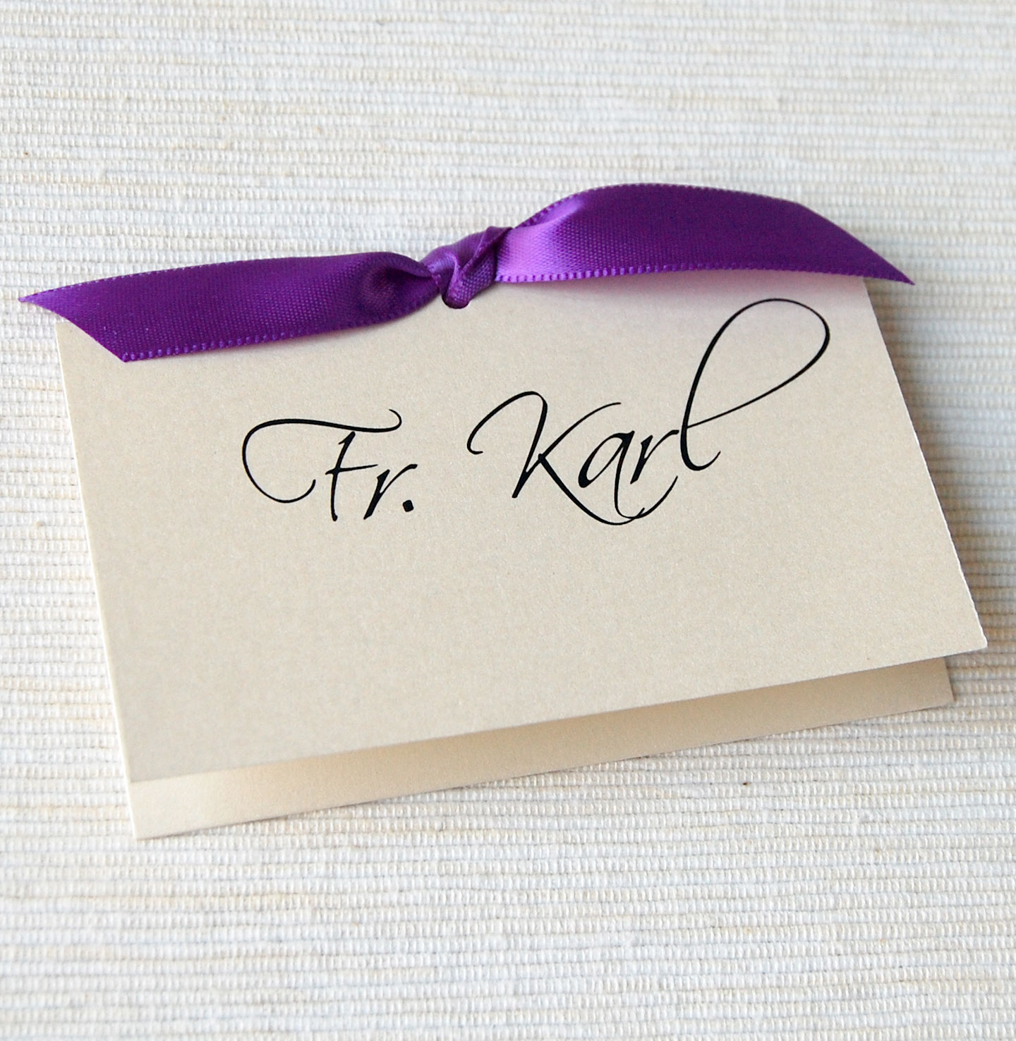 unique wedding invitations  stationery  ribbon tie