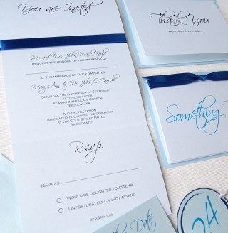 Something Blue Invitation