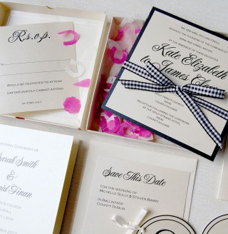 Confetti Boxed Invitation