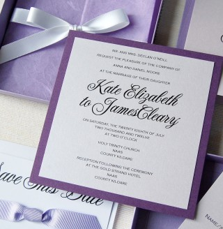 Purple Boxed Invitation