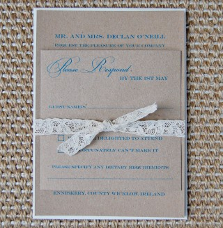 product wedding invitations lace kraft