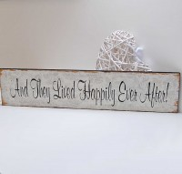 Large Happily Ever After Wooden Sign *SOLD OUT!!!