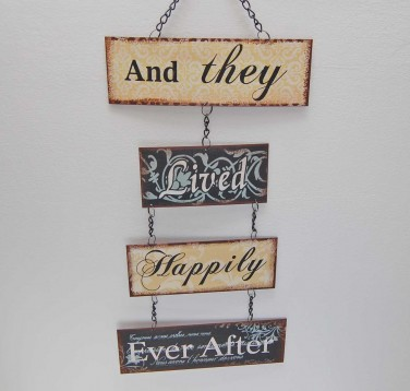 Happily Ever After Small Metal Sign *SOLD OUT!!!
