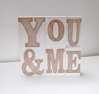 You and Me Wooden Block