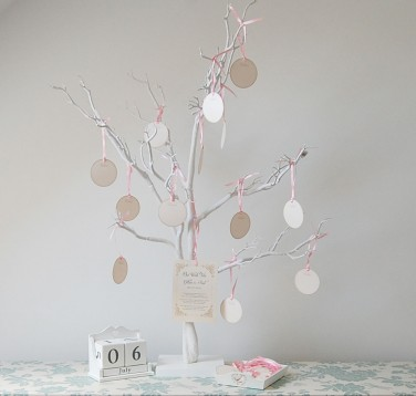 White Wedding Wishing Tree