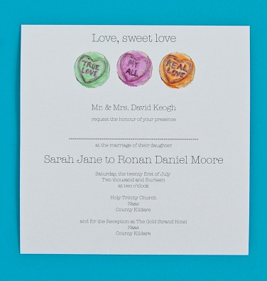 Love Heart Wedding Invite