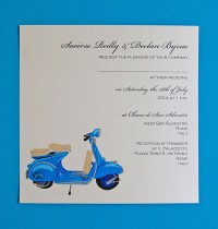 Blue Scooter Invitation