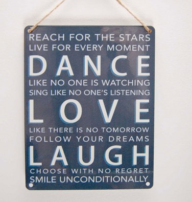 Dance, Love, Laugh Metal Plaque