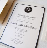 Circle Monogram Invitation