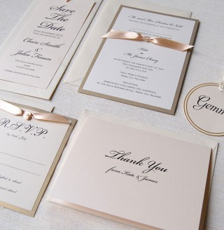 Caramel Bow Invitation