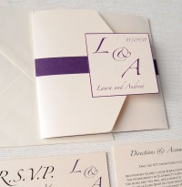 Purple & Ivory Pocket Fold