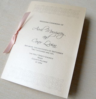 Unique Wedding Invitations Ceremony Booklet