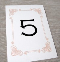 A5 Table Number Card